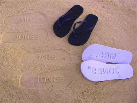 Custom Wedding and Bridal Flip Flops    Personalize With