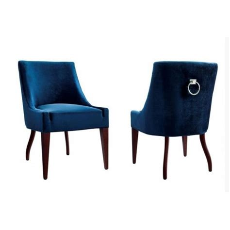 Royal Blue Dining Chairs Royal Blue Velvet Chair Dining Set Of 2