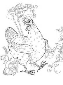 printable version of little red hen little red hen coloring page free printable coloring pages