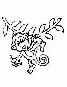 mod monkey coloring pages elle s monkey party on pinterest monkey birthday parties
