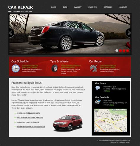 car repair free css html template templates perfect