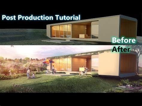post production exterior architectural visualization