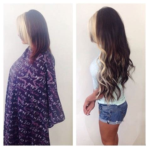 hairstyles with extensions before and after 17 best hair transformations images on pinterest hair
