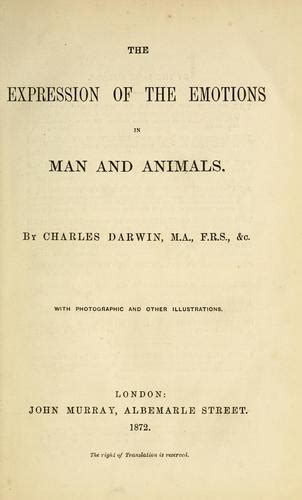 The Expression Of The Emotions In Man And Animals Wikipedia