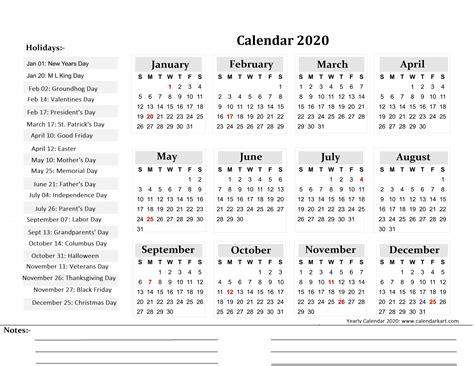 printable yearly calendar  calendar kart