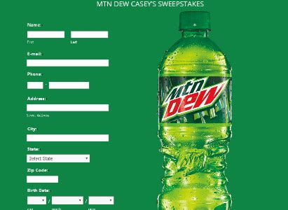 Mountain Dew Sweepstakes - mountain dew casey s sweepstakes win 100 casey s gift card