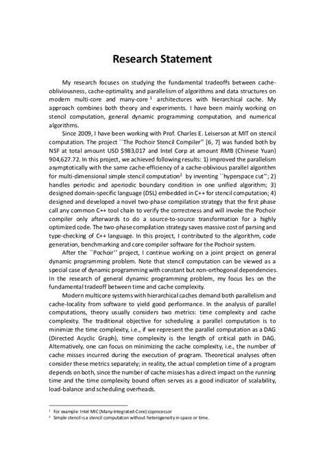research statement template research statement