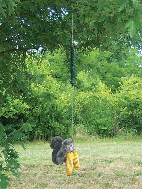 Backyard Deer Feeder by Squngee Deluxe Squirrel Feeder Bungee Jumper