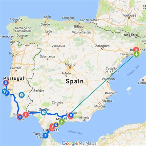 map of spain and portugal spain portugal golf tour