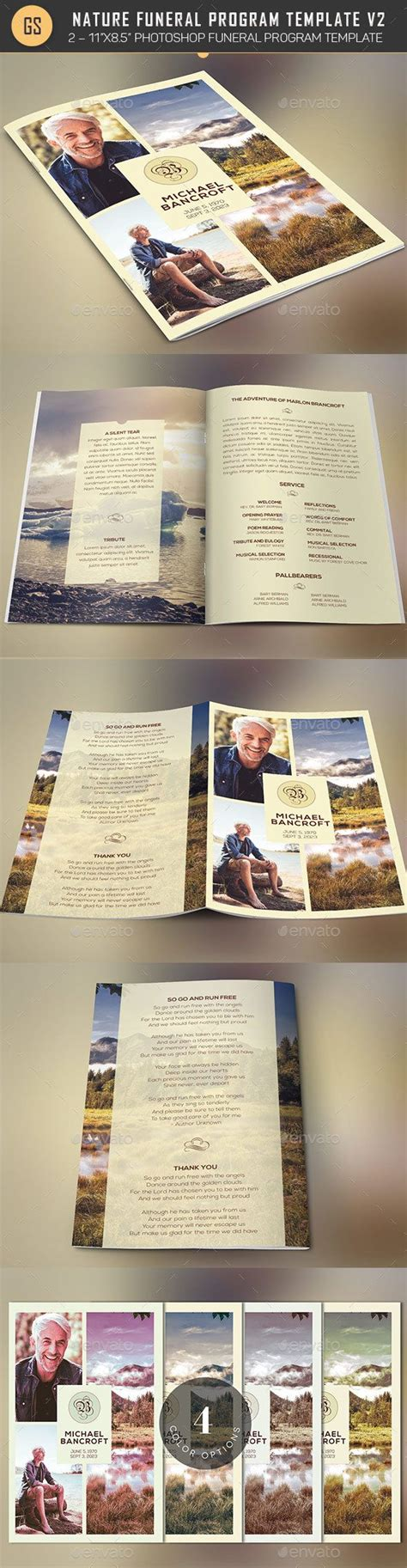 free funeral program templates memorial album templates