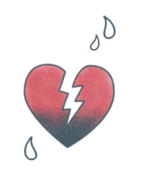 broken heart temporary tattoo tattooednow ltd