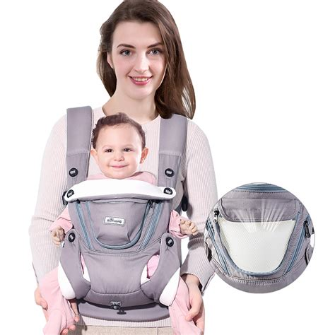 sunveno ergonomic baby carrier breathable front facing