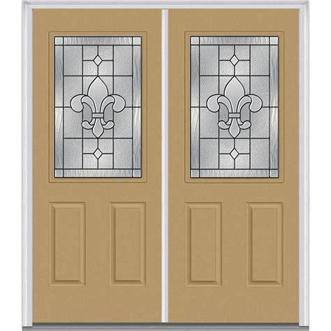 mmi door 74 in x 81 75 in classic clear glass 1 lite mmi door 74 in x 81 75 in carrollton decorative glass 1