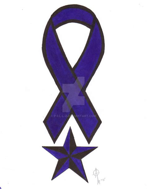 Ribbon Z colon cancer ribbon by p i l l z on deviantart