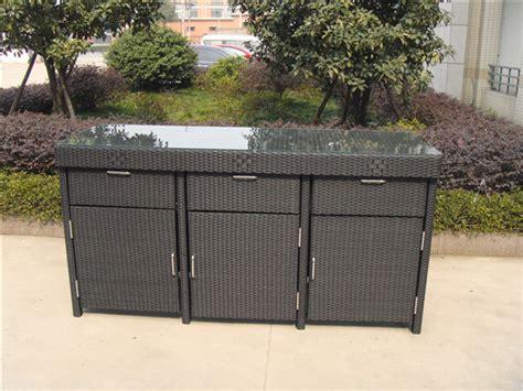 Schrank Outdoor by Aluminum Frame Rattan Bar Table Cheap Rattan Cabinet Buy