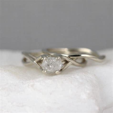 infinity engagement ring set white gold engagement ring and wedding band