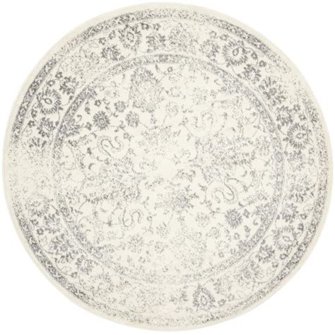 round accent rug safavieh adirondack ivory silver 6 ft x 6 ft round area