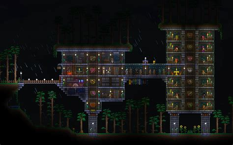 terraria storage room a compact crafting station what do you think terraria