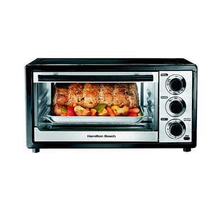 Toaster Oven With Auto Slide Out Rack Hamilton Beach Brands Inc 31508 6 Slice Toaster Oven Broiler