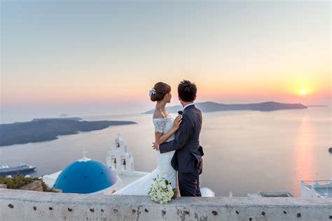 Wedding Planner Greece by Fion Hong Intimate Civil Wedding In Santorini Lovwed
