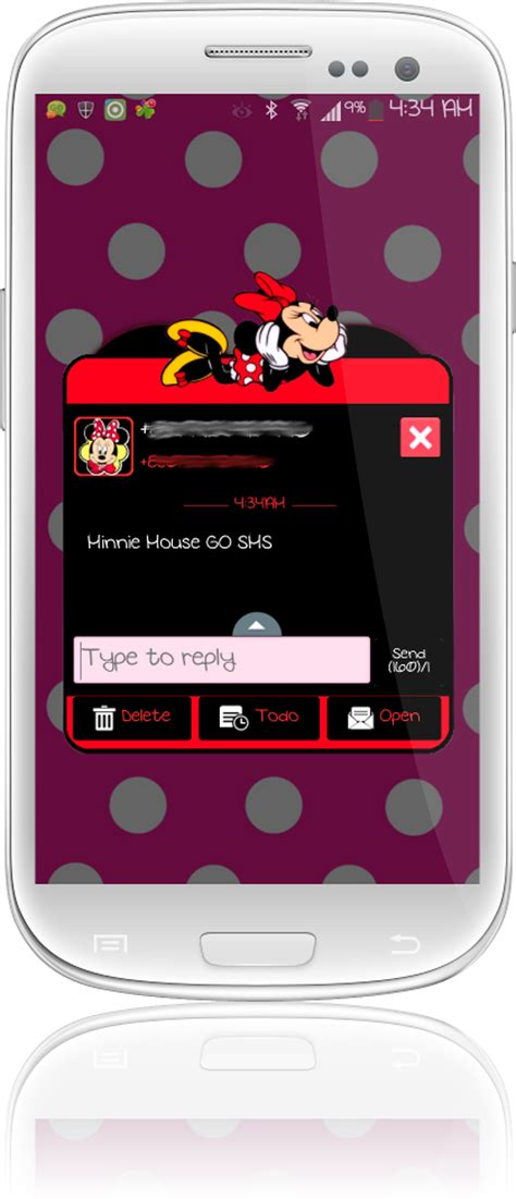 themes android minnie mouse pretty droid themes minnie mouse go sms theme and smart