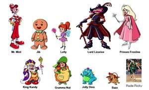 printable board game characters 17 best images about candyland on pinterest homemade