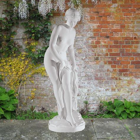 backyard statues bathing goddess 162cm roman garden sculpture large marble