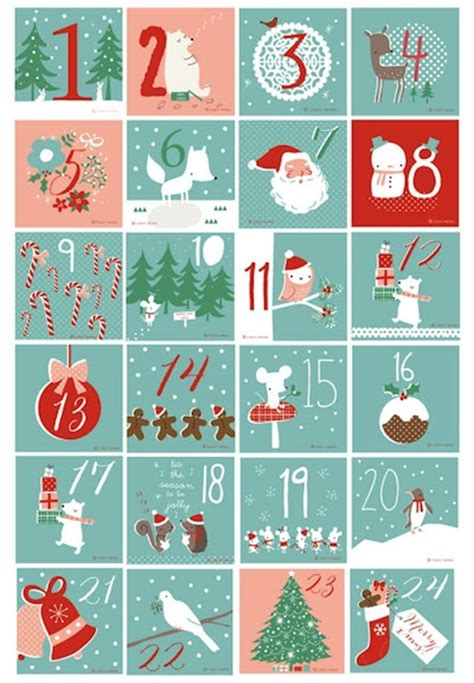 printable calendar numbers christmas new calendar best homemade advent calendars
