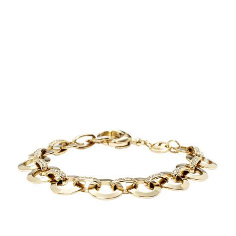 glitz charm starter bracelet gold fossil