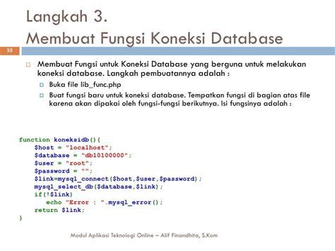 membuat aplikasi database online aplikasi teknologi online aplikasi database berbasis web