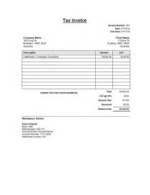 tax invoice template free sle tax invoice template template