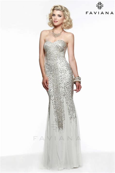 liquid beaded evening gowns faviana s7567 liquid beaded prom dress
