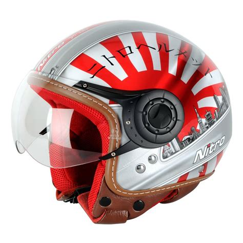 japanese design helmet nitro x548 av japan open face country motorbike motorcycle