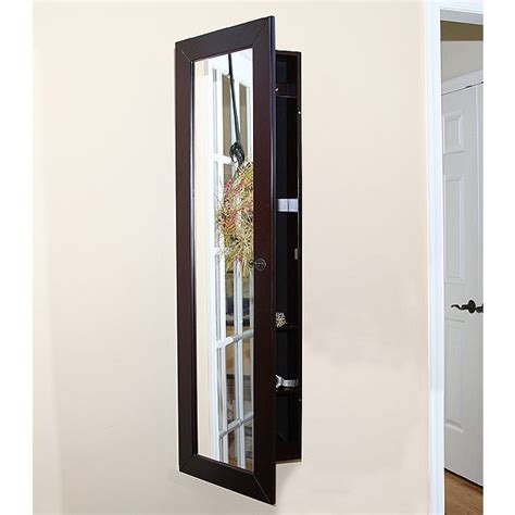 Wall Mount Jewelry Armoire With Mirror by Pebble Wall Mount Jewelry Armoire Espresso W