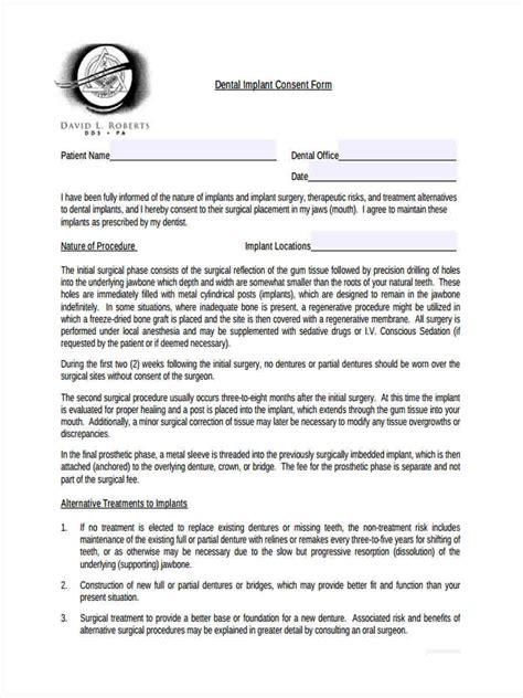 dental consent form 33 consent form format