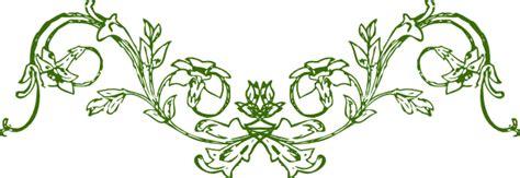 Motif Flower Hijau green mirrored flower frame clip at clker vector
