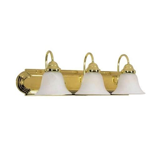 polished brass bathroom light fixtures nuvo lighting ballerina polished brass three light bath