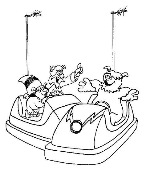 bumper cars coloring pages bumper car coloring pages coloring pages