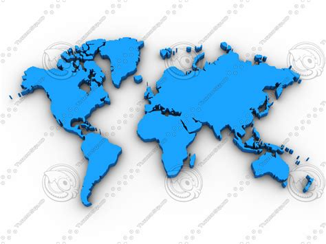 Big Wallpaper 3d World 7 stock jpg map world continent
