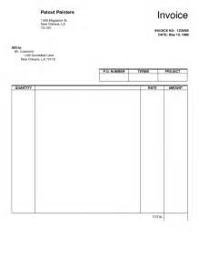 free invoice form template blank invoice template free pdf template design