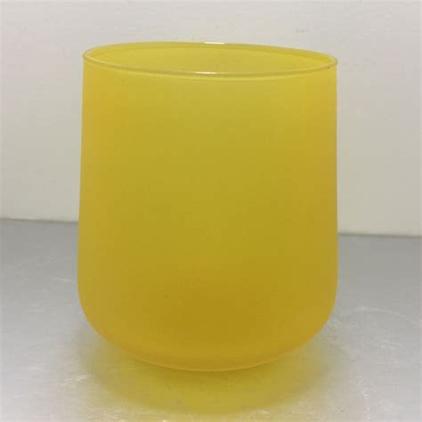 colored jars 398ml yellow wholesale tumbler glass colored candle jars