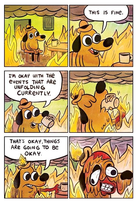 Everything Is Fine Meme - you re welcome reaction images know your meme