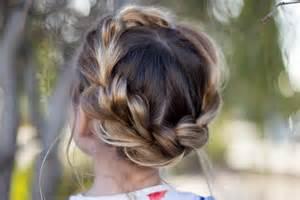 crown hairstyles pull thru crown braid cute girls hairstyles