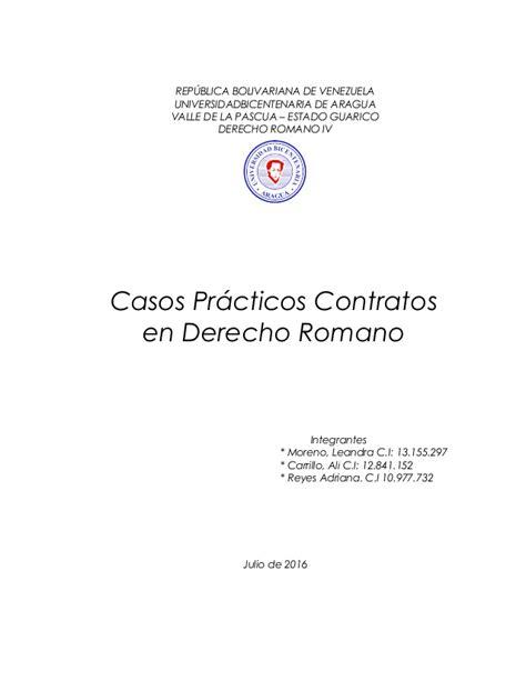 casos practicos derecho romano casos practicos en derecho romano