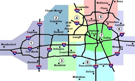 map fort worth area area map maps and dallas on