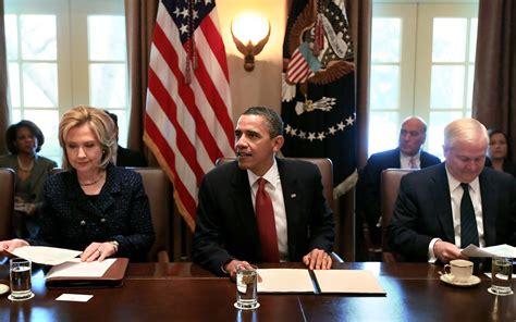 Current Obama Cabinet Barack Obama And Clinton Photos President Obama