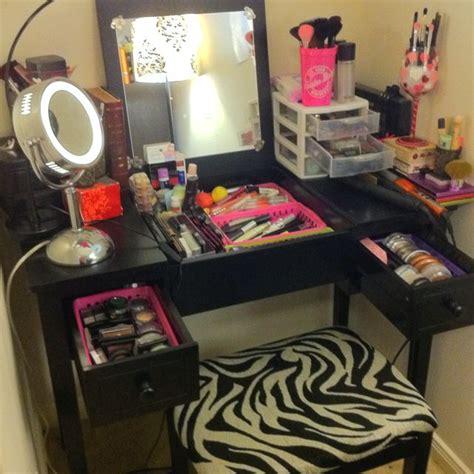 vanity organization makeup vanity organization hair and makeup pinterest