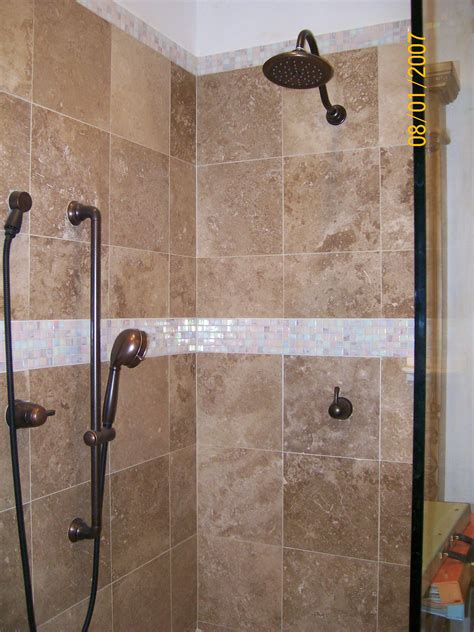 Ceramic Tiling A Shower by Walk In Ceramic Tile Shower Designs Studio Design