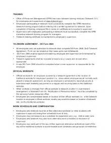 telework agreement template how to get to like telework agreement template