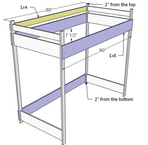 How To Build Bunk Beds Plans 200 Sized Bunk Bed White Easy Diy Projects And Furniture Plans